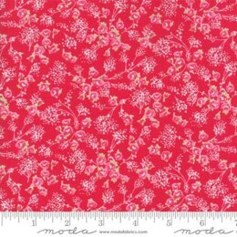 Moda Fabrics First Romance Cut to Length - Angel Heart Floral Red Valentine - Red