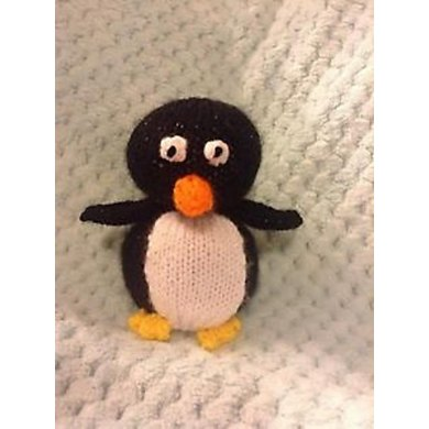 Christmas Penguin Choc Orange Cover Toy Knitting Pattern By Andrew