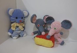Mini Knitkinz Grey Mouse