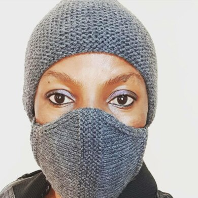 Easy to knit face mask
