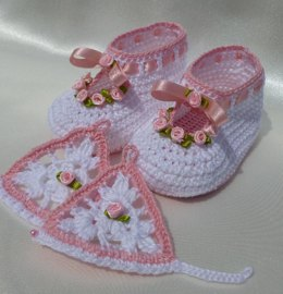 ROSY christening baby set