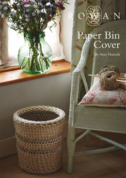 Paper Bin Cover in Rowan Big Wool