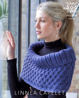"""Linnea Capelet"" - Cape Knitting Pattern For Women in MillaMia Naturally Soft Aran"