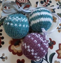 Christmas Bauble Knitting Pattern Straight Needles