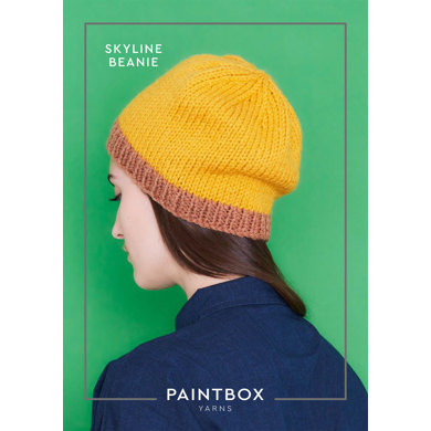 """Skyline Beanie"" : Beanie Knitting Pattern in Paintbox Yarns Bulky 