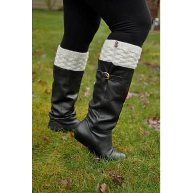 Braided Cable Boot Cuffs