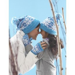 Snowflake Hat and Mittens in Patons Astra