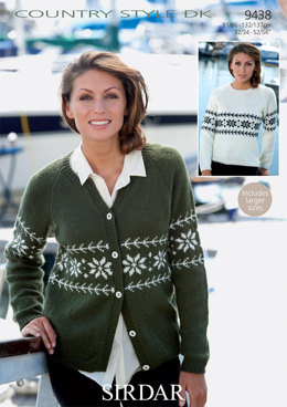 Sweater and Cardigan in Sirdar Country Style DK - 9438