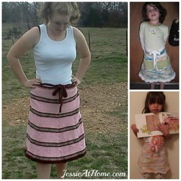 Amelia ~ a wrap top skirt knit pattern