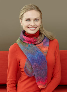 Chevron Scarf in Lion Brand Amazing - L0581