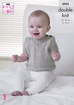 Cardigans & Sweater in King Cole Baby Pure DK - 4904