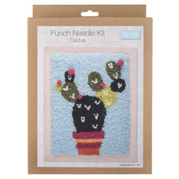 Trimits Punch Needle Kit: Cactus  - 20.32 x 25.4cm (8 x 10in)
