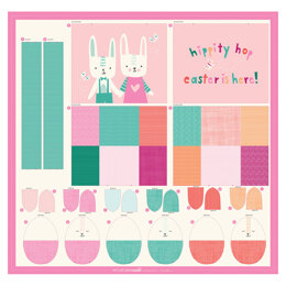 Moda Fabrics Cut Sew Create Easter Egg Bag Panel