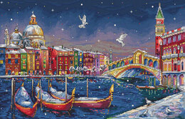 Merejka Holiday Venice Cross Stitch Kit - 27cm x 40cm