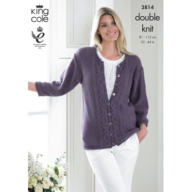 Sweater and Cardigan In King Cole DK - 3814