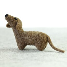 Hawthorn Handmade Dachshund Mini Needle Felting Kit - Multi