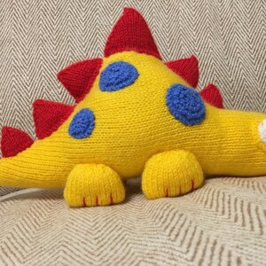 Knitted Dinosaur Hand Knitted Clarence the Dinosaur