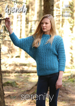 Batwing Sweater in Wendy Serenity Chunky - 5835