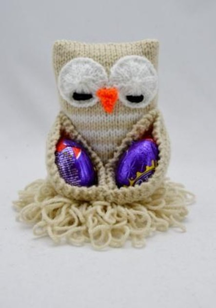 Knitting By Post Owl : Easter chocolate egg owl knitting pattern by post