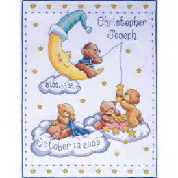 Tobin Bears In Clouds Birth Record Cross Stitch Kit