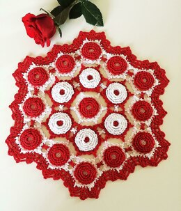 Love is red doily