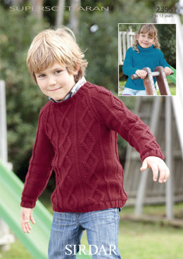 Boys and Girls Sweaters in Sirdar Supersoft Aran - 2395