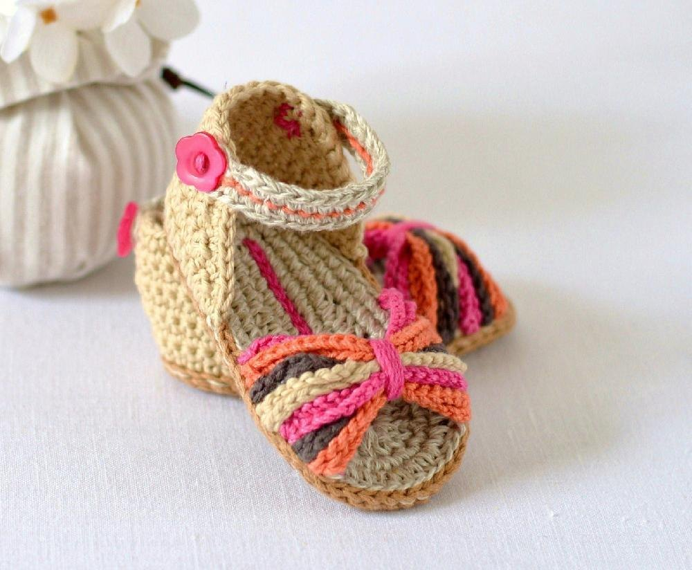 e095c8778cb5 Paris Baby Sandals Crochet pattern by Caroline Brooke