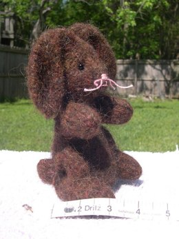 Knitted/Felted Brown Rabbit