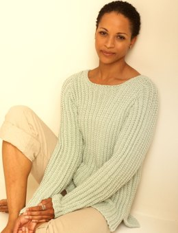 Textured Pullover in Bernat Handicrafter Cotton Solids