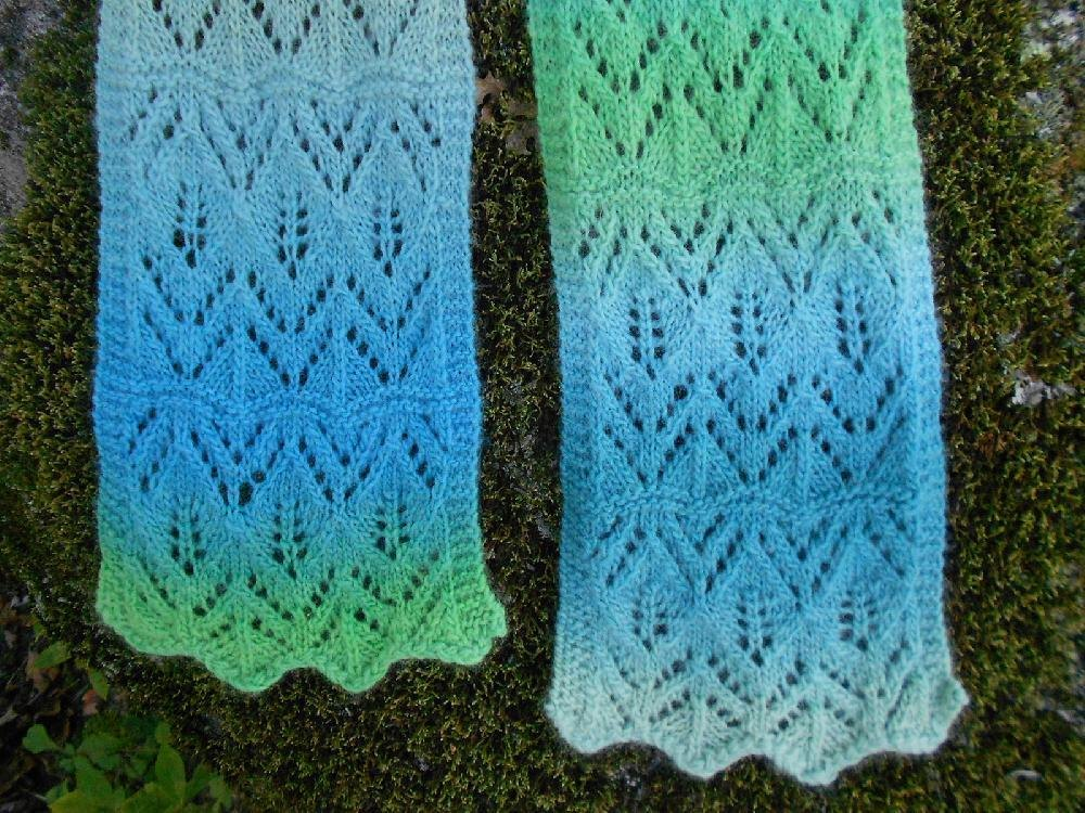 Floating Leaves Lace Scarf Knitting pattern by Melody Hadley ...