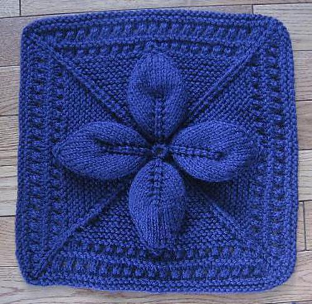 "Lucky 4-Leaf Afghan 12"" block Knitting pattern by Margaret ..."