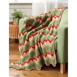 Zig-Zag Afghan in Bernat Worsted Solids - Downloadable PDF