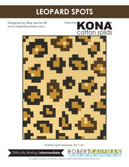 Robert Kaufman Leopard Spots - Downloadable PDF