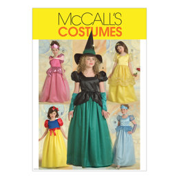 McCall's Children's/Girls' Princess and Witch Costumes M5494 - Sewing Pattern