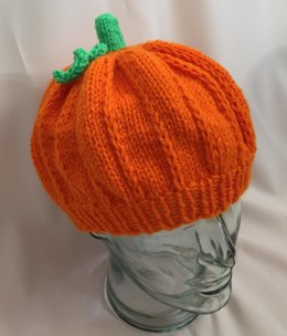 Adult Pumpkin Hat - Knit ePattern
