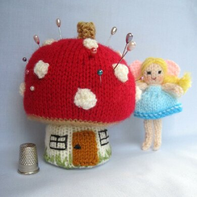 Toadstool Pincushion and Fairy