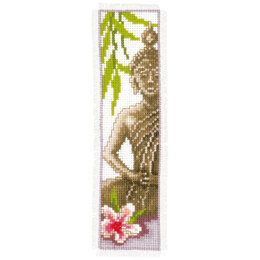 Vervaco Buddha Bookmark Cross Stitch Kit - 6cm x 20cm