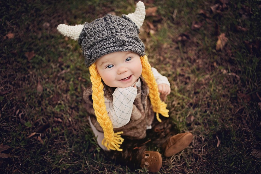 Viking Hat Baby Child Adult Crochet pattern by Katharine Kennedy f33ca3d775ff