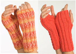 Fingerless Gloves in Plymouth Encore Worsted - F236