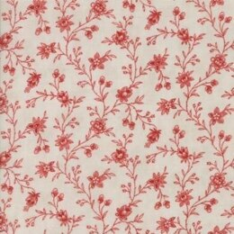 Moda Fabrics 3 Sisters Snowberry Berry Floral Vine Red