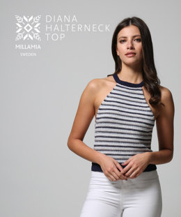 Diana Halterneck Top in MillaMia Naturally Soft Merino - Downloadable PDF