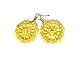 Cart wheel crochet earrings