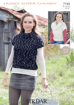 Sleeveless Tops and Cowl in Sirdar Husky - 7193 - Downloadable PDF