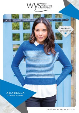Arabella Striped Jumper in West Yorkshire Spinners Wensleydale Gems Hanks - WYS90997