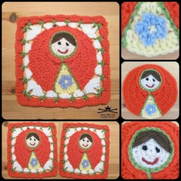 Russian Doll Afghan Square