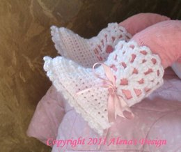 White Lace Top Baby Booties