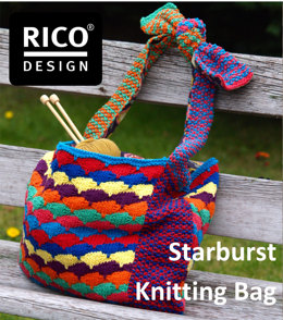 Starburst Knitting Bag in Rico Creative Cotton Aran - Downloadable PDF