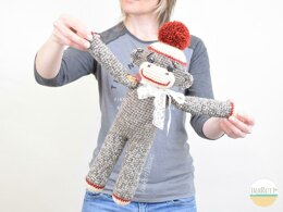 Spunky The Big Sock Monkey Crochet PDF Pattern