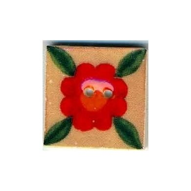 Mill Hill Button 87021 - Leafy Red Bloom