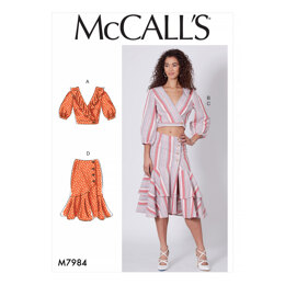 McCall's Misses' Tops and Skirts M7984 - Sewing Pattern